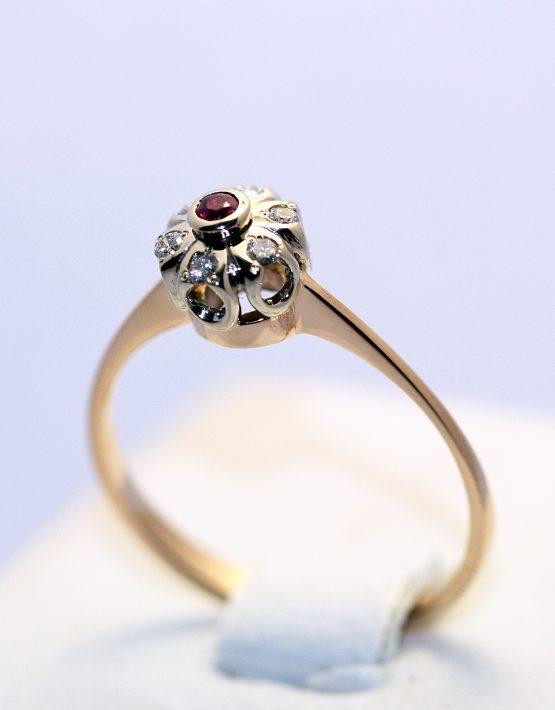купить золотое кольцо с рубином