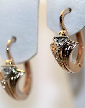 купить серьги из золота с бриллиантами