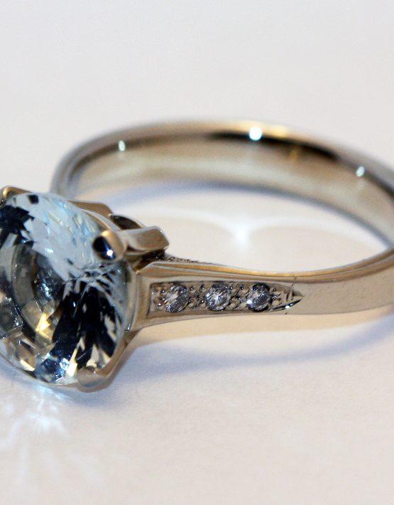 купить кольцо с аквамарином