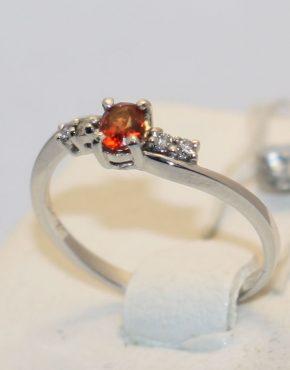 кольцо белое золото 585