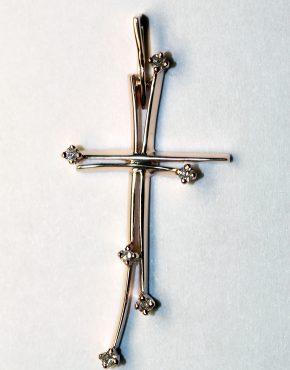 золотой крестик женский