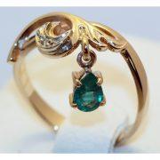 кольцо с изумрудом спб