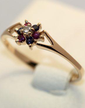купить золотое кольцо цветок