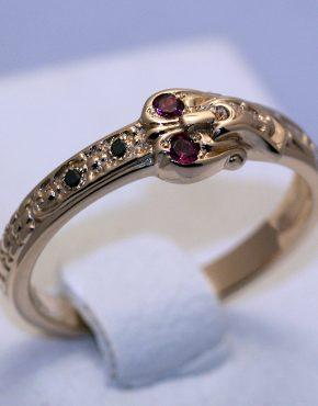 купить кольцо из розового золота