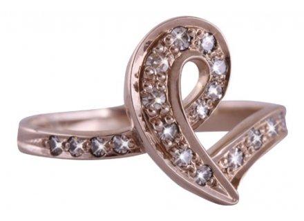Золотое кольцо «Маджестик» 585 пробы с бриллиантами Золотые кольца,  Бриллианты 4c7f723df26