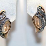 серьги с бриллиантами из золота 585