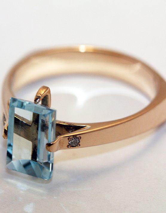 купить золотое кольцо с топазом