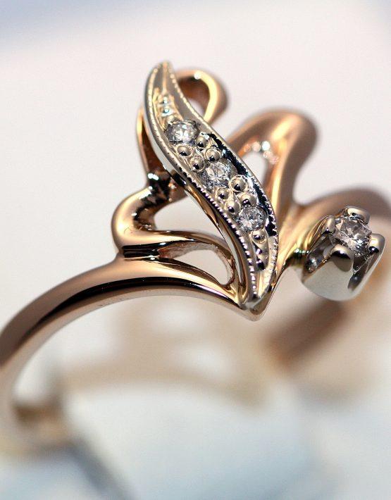 кольцо из комбинируемого золота