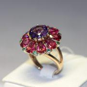 кольцо золотое цветок