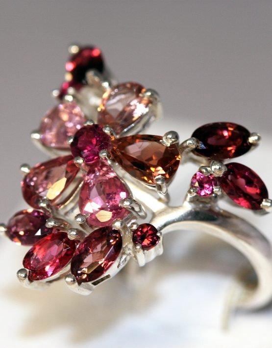кольцо с турмалинами