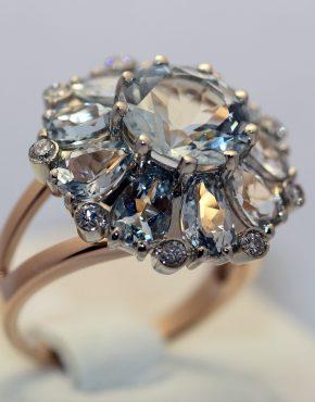 аквамарин кольцо