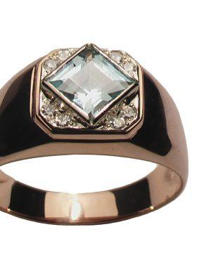 мужской перстень с топазом