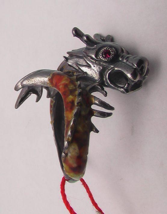 серебряное кольцо дракон