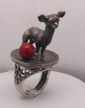 кольцо серебряное авторское