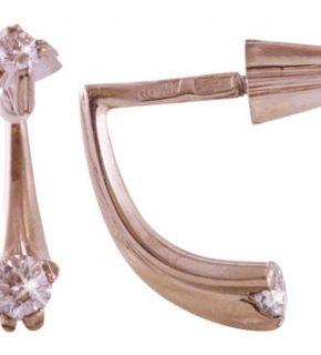 купить золотые серьги с бриллиантами