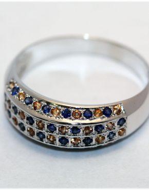 купить кольцо с сапфирами