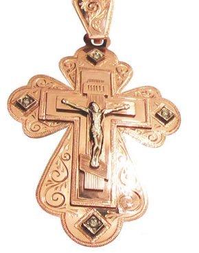 крест золотой большой