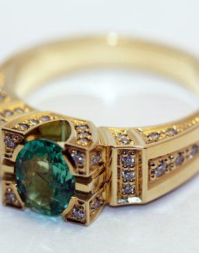 золотой перстень 750