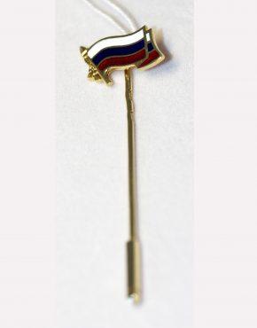 заколка флаг россии