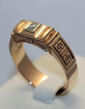 золотое мужское кольцо