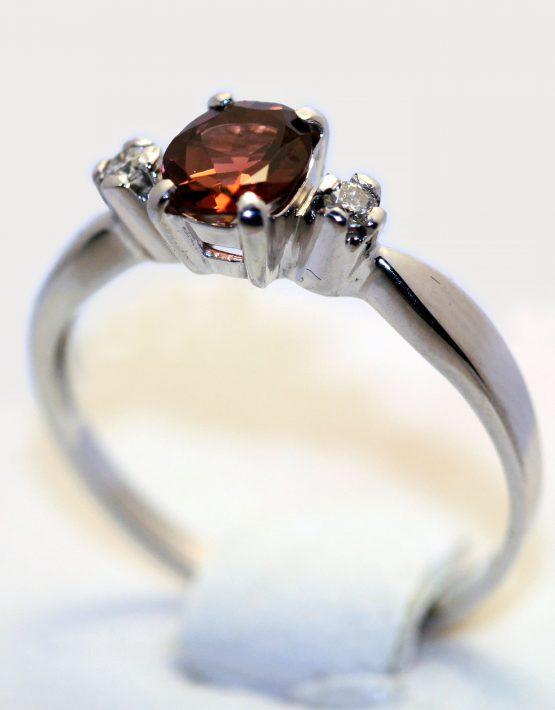 кольцо с турмалином и